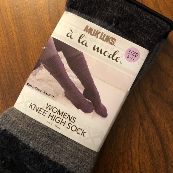 d65234f71 Muk Luks à la mode knee high socks NWT